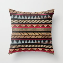 African Tribal Pattern No. 125 Throw Pillow