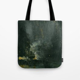 James Abbott McNeill Whistler - Nocturne in Black and Gold Tote Bag