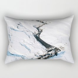River in winter in Iceland - Landscape Photography Rectangular Pillow