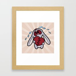 Broken Hearted Bunny Framed Art Print