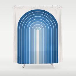Gradient Arch - Classic Blue Tones Shower Curtain