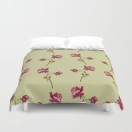 Embroidered Rose Duvet Cover