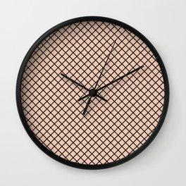 Black Canary Fishnet Minimalist Wall Clock