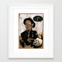 tom waits Framed Art Prints featuring Tom Waits? by Andy Christofi