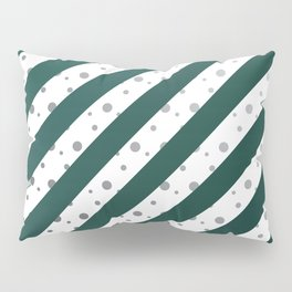Stripes and dots (Green) Pillow Sham