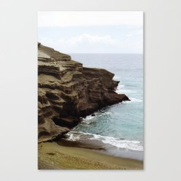 Green Sand Beach Canvas Print