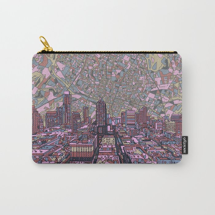 austin texas city skyline Carry-All Pouch