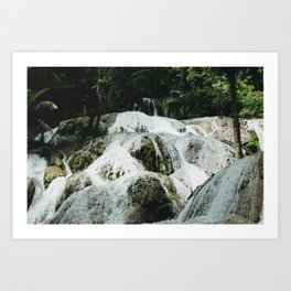 Waterfall. Sulawesi, Indonesia Art Print