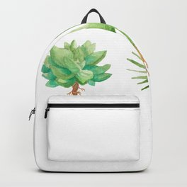 Plant Trio Watercolor Backpack