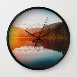 Lake Matheson Wall Clock