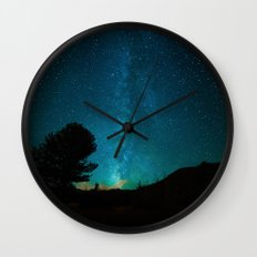 Milky Way Starry Night Photography Wall Clock