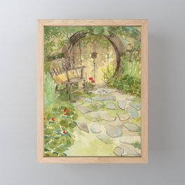 The yellow door Framed Mini Art Print