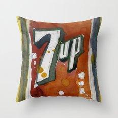 7UP Soda POP Throw Pillow
