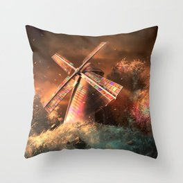 Color the wind Throw Pillow