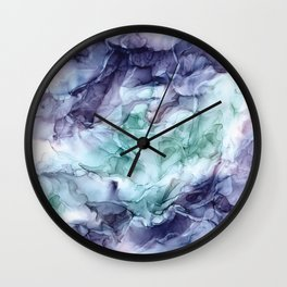 Growth- Abstract Botanical Fluid Art Painting Wall Clock
