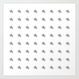 nice and easy   [pattern, black] Art Print