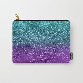 Purple Teal MERMAID Girls Glitter #1 #shiny #decor #art #society6 Carry-All Pouch