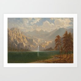 'In Yosemite on a Summer's Day' landscape painting by Gilbert Munger Art Print