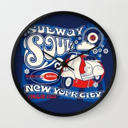 Soul Scoot Subway Soul by Dawn Carrington Wall Clock