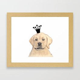 Labrador Royal Framed Art Print