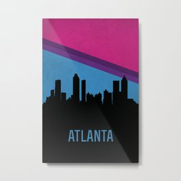 Atlanta Skyline Metal Print