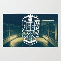 geek Area & Throw Rugs featuring GEEK by YTRKMR