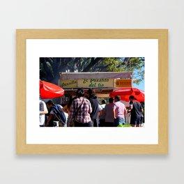 El Puestito del Tío Framed Art Print