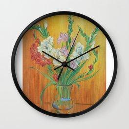 Gladioli in Color Wall Clock