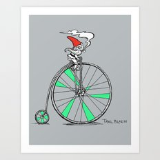 Trail Blazing Gnome Art Print