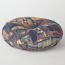 Porto from the bridge. Floor Pillow