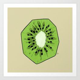 Kiwi Slice Art Print