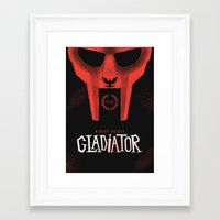 gladiator Framed Art Prints featuring Gladiator by Wharton