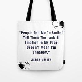 20  |  Jaden Smith Quotes | 190904 Tote Bag