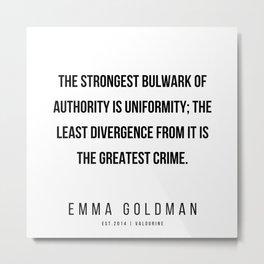 17    | Emma Goldman Quotes | 200602 Metal Print