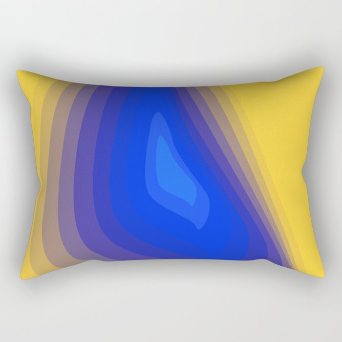 Blue and yellow Rectangular Pillow