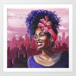 Pink In The City Art Print