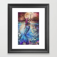 Moonlit Siren Framed Art Print