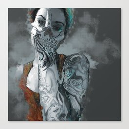 My face is a skull Canvas Print