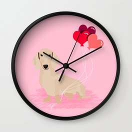 Dachshund heart balloons valentines day dog breed must have gifts dachsies Wall Clock