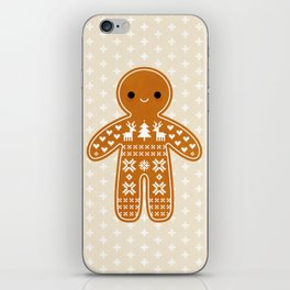 SWEATER PATTERN GINGERBREAD COOKIE iPhone Skin