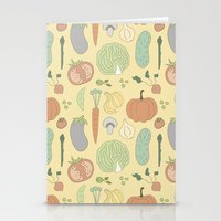 vegetable Stationery Cards featuring Vegetable Salad by akaink