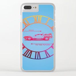 Back To The Future Clock Clear iPhone Case