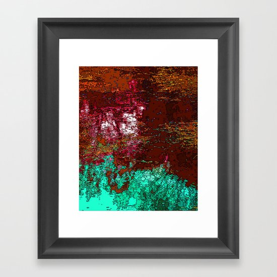 Puddle of Reflection Framed Art Print