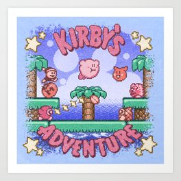 Adventure Kirby Art Print