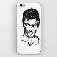 daryl iPhone & iPod Skins featuring Daryl by Giorgia Ruggeri