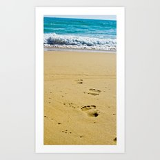 Walked into the Sea Art Print