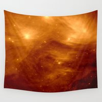 copper Wall Tapestries featuring Copper by 2sweet4words Designs