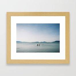 Balaton lake Framed Art Print