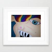 boob Framed Art Prints featuring Boob by Rachel Mueller