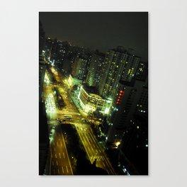 shanghai by night #3 Canvas Print